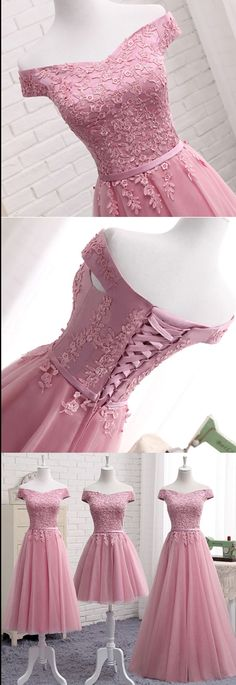 Homecoming Dress,Homecoming Dress Short,Prom Dress Short,Cheap Prom Dresses,Cheap Homecoming Dresses,Cheap Evening Dress,Homecoming Dresses Cheap,Quality Dresses,Party Dress,Fashion Prom Dress,Prom Gowns,Dresses for Girls,Prom Dress,Simple Prom Dresses,Gorgeous Pink A Line Lace Off Shoulder Prom Dress, Cheap evening dresses, SH208