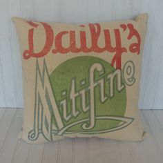 Vintage Feed Sack Pillow with Insert  Free by TheNewVintageHome, $55.00