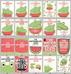 Greg Pizzoli's The Watermelon Seed, concepts for cover
