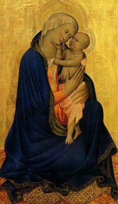 By Gherardo Starnina, 1 4 0 3,   Madonna of Humility, Tempera on wood, Uffizi Gallery, Firenze.