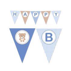 PRINTABLE Boy or Girl Teddy Bear Party Banner
