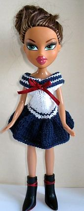 Knitting Patterns For Bratz Doll Clothes : 1000+ images about knit doll clothes patterns on Pinterest ...
