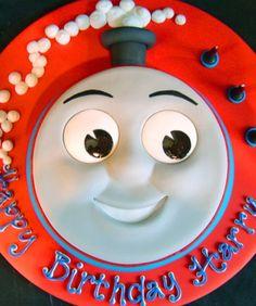Thomas The Tank Engine Face Cake