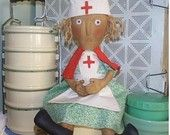 HALF PRICE SALE  Primitive Doll Pattern E Pattern pdf Nurse
