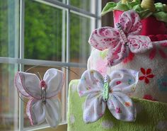 Washcloth Butterfly Instructional Video