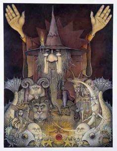 Wayne Anderson. Art gallery.  Zodiac Magician