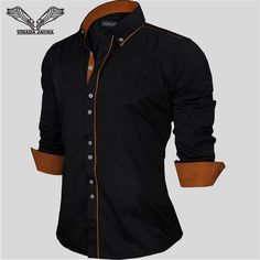 Shirts Europe Size New Arrivals Slim Fit Male Shirt Solid Long Sleeve British Style Cotton Men's Shirt Long Sleeve Cotton Dress, Long Sleeve Shirts, Formal Shirts, Casual Shirts, Cotton Shirts For Men, Men Shirts, Spring Shirts, Shirt Price, Slim Fit