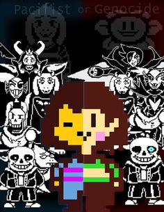 undertale pacifist and genocide>>> *horrified expression* Pap is.... HEADLESS