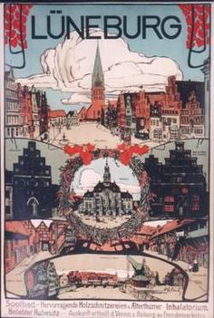 Luneburg, 1900's German Travel poster