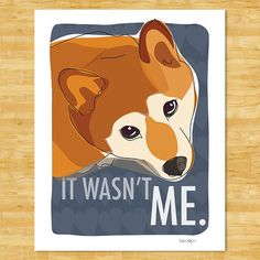 Shiba Inu Print Modern Dog Art  Innocent by PopDoggie on Etsy, $18.00