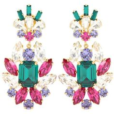 Dolce & Gabbana Crystal Clip-on Earrings (26 565 UAH) ❤ liked on Polyvore featuring jewelry, earrings, brinco, multicoloured, clip on earrings, multicolor earrings, crystal earrings, tri color jewelry and crystal clip on earrings