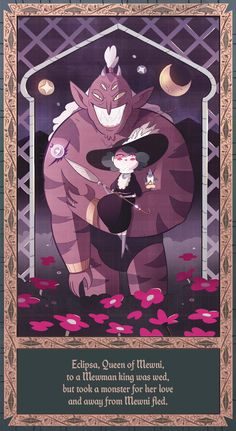 """""""Eclipsa reina de Mewni, fue casada con un rey mewmano, pero se enamoró de un monstruo y huyó lejos de Mewni."""""""