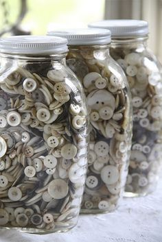one can never have too many jars of buttons!