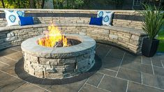 "Outstanding ""outdoor fire pit designs"" detail is readily available on our internet site. Read more and you wont be sorry you did. Fire Pit Seating, Fire Pit Area, Wall Seating, Paver Fire Pit, Diy Fire Pit, Fire Pit With Pavers, Fire Pit Wall, Paver Designs, Fire Pit Designs"
