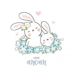 Happy Mother's Day Card, Happy Mother's Day Greetings, Illustration Art Drawing, Illustration Story, Art Drawings, Baby Drawing, Drawing For Kids, Happy Mother S Day, Happy Mothers