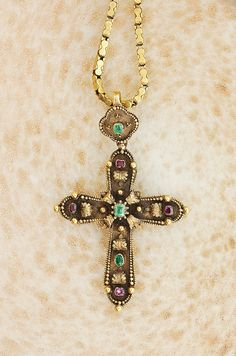 Antique Early Victorian Handmade Cross with by SITFineJewelry, $7500.00