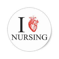 #nurse - #I Heart Nursing Classic Round Sticker