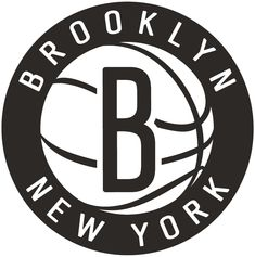 Brooklyn Nets Secondary Logo (2013) - Black B on a white basketball in a 23b65dbe4