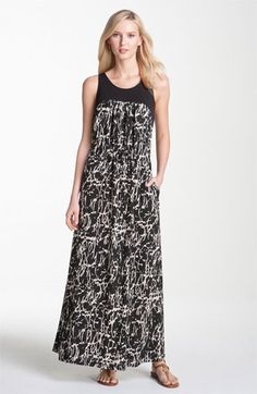 Kenneth Cole New York Crackle Print Maxi Dress (Petite) available at #Nordstrom
