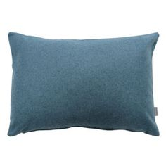 Heal's Islington Cyan Cushion. As part of an exclusive Heal''s collection, these bold bolster cushions were designed and made in the UK.