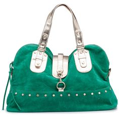 Silvian Heach Bag Dominiek Green ($76) ❤ liked on Polyvore