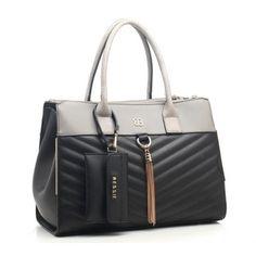Quilted Tassle Handbag With Bessie London Keyring Purse