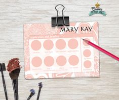 Mary Kay tray insert printable beauty by TopBusinessTemplates