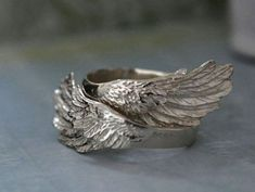 sterling silver ring set for you and the by plasticoutureWINGED. sterling silver ring set for you and the by plasticouture Antique Wedding Rings, Silver Wedding Rings, Silver Engagement Rings, Antique Rings, Antique Silver, 925 Silver, Jewelry Stores Near Me, Pandora, Silver Wings