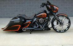 Harley Davidson Glide, Harley Davidson Touring, Harley Davidson Motorcycles, Harley Bikes, Custom Motorcycles, Custom Bikes, Harley Bagger, Bagger Motorcycle, Moto Bike