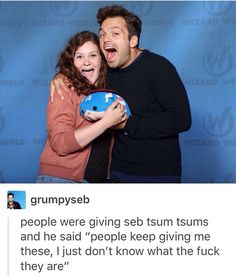 I don't like the cuss word but Awwwww Sebby he doesn't know tsum tsums but still takes great pics with them just like he didn't realize it was honey boo boo in those Bucky and Sam running edits lol oh Seb