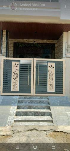 Front Door Design Wood, Front Gate Design, House Front Design, House Main Gates Design, Front Gates, Grills, Garage Doors, Outdoor Decor, Men
