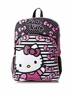 cc0d81037e37 Sanrio Hello Kitty Black and White 16 Large School Backpack for Girls