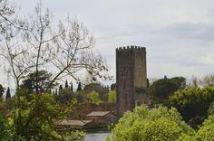 Set in a ruined medieval town, the romantic Ninfa Gardens are located in the Lazio region of Italy, 40 miles southeast of Rome #Ninfa #Castello_Caetani #Sermoneta #Latina