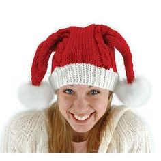 5fb20b6f8ab Knit Santa Claus Adult Red Hat Costume Accessory One Size