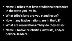 Who can name famous Native people versus Indian mascots, and culturally appropriative fashion brands versus the cultures from which the trendy item in question originates. Of course, if we started teaching about Native cultures and history, we'd have to acknowledge the horrible things that happened between Europeans first landings in North America and today - and that just doesn't fit with many American's ideas of what their history is.