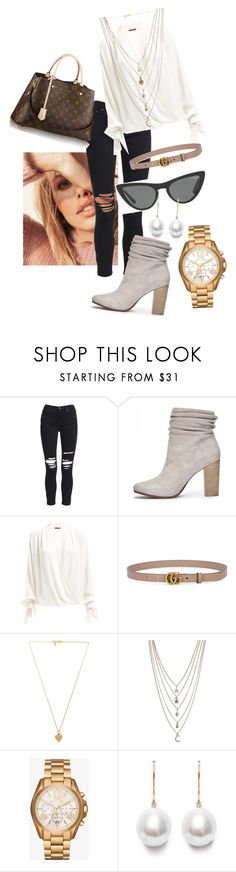 """""""Untitled #2243"""" by devilsndesign on Polyvore featuring AMIRI, Chinese Laundry, Gucci, Louis Vuitton, Victoria, Victoria Beckham, Vanessa Mooney, Ettika and Michael Kors"""