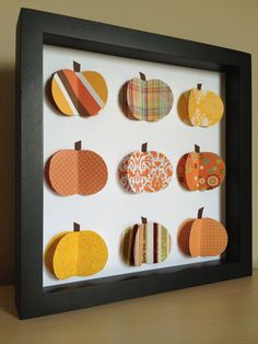 Fall Orange Pumpkin 3D paper art for your Fall by PaperLine, $35.00