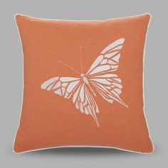Pastoral style butterfly embroidered decorative pillows for couch