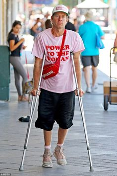 Dan Single looks glum on crutches after split with Bambi  It was exclusively confirmed by Daily Mail Australia last month that Dan Single had split with his model wifeBambi Northwood-Blyth.  And it appears that the separation may be taking its toll on the Ksubi founder as he was spotted for the first time since the news broke on Thursday.  The 36-year-old seemed downcast while walking on crutches through the streets of Sydneys Bondi apparently still recovering from his horror hotel fall last…