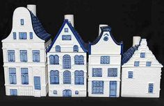 canal house canisters in blue and white