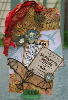 Go where I've Never Been Steampunk Tag - Altered Pages Rubber Stamps, IMAGINE Crafts/Tsukineko Ink, Leaky Shed Chipboard