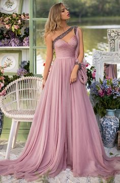 Tarik Ediz 93854 Name: Phuket. The fabric in this Tarik Ediz Coutre style is Chiffon Greek Goddess Dress, Fantasy Gowns, Chiffon Gown, Perfect Prom Dress, Formal Dresses, Wedding Dresses, Princess Prom Dresses, Evening Gowns, Chiffon Evening Dresses