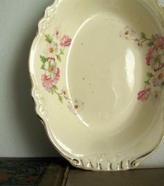 Homer Laughlin Virginia Rose Vegetable Bowl Ca by RushCreekVintage, $20.00
