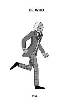 Todos os Dr Who correndo infinitamente em um GIF genial