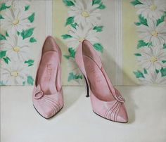Pink pumps by Holly Farrell
