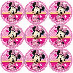 Minnie centros de mesa Minni Mouse Cake, Minnie Mouse Cupcake Toppers, Minnie Mouse Birthday Decorations, Minnie Mouse Theme Party, Minnie Mouse 1st Birthday, Minnie Mouse Baby Shower, Mickey Minnie Mouse, Mouse Parties, Baby Mickey