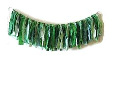 Fabric garland photo prop green ombre Saint Patricks by HollyBeeez, $30.00