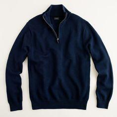 J.Crew Mens Cotton-Cashmere Half-Zip Sweater (Size S)