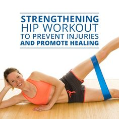 Healthy hips means a healthy back, neck, knees, and ankles. Align your hips with this Strengthening Hip Workout to Prevent Injuries and Promote Healing from Skinny Ms. hip flexor it band Fitness Workouts, Hip Workout, Fitness Tips, Boxing Workout, Men Workouts, Weight Workouts, Core Workouts, Fitness Fun, Hip Strengthening Exercises