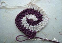 Crear con hilos...: Granny en espiral y un garabato...